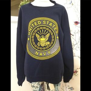 Soffe US Navy 90's Crew Neck Blue Sweater